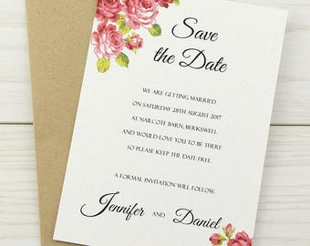 SAMPLE * Charlotte Save the Date Cards