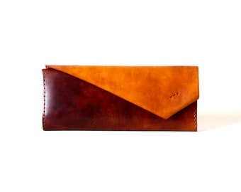 Elegant handmade leather wallet / exquisite leathercraft