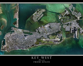 Key West Florida Satellite Poster Map