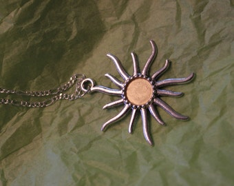 pale golden sun necklace