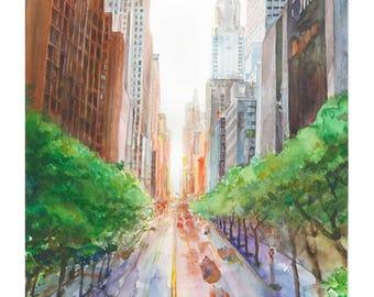 Park Avenue (water color)