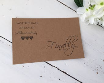Finally..., beautiful save the date cards 10 pack