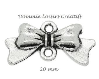 X 20 silver bowtie connectors 10 x 10mm