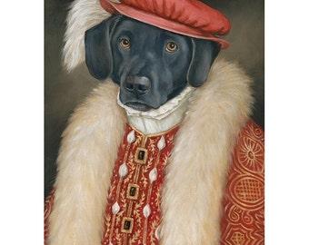 Black Lab Art, Max Prints, Labrador Retriever, Dog Art Print
