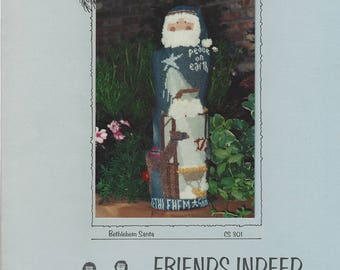 """Clearance- """"Bethlehem Santa"""" Counted Cross Stitch by Friends Indeed"""