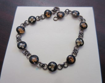Dainty Sterling Silver 925 Flower Bracelet
