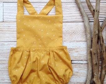 Boho baby clothes romper baby clothes girls mustard yellow girls baby clothes little girl clothes photo 6 month photo outfit girl 12 month