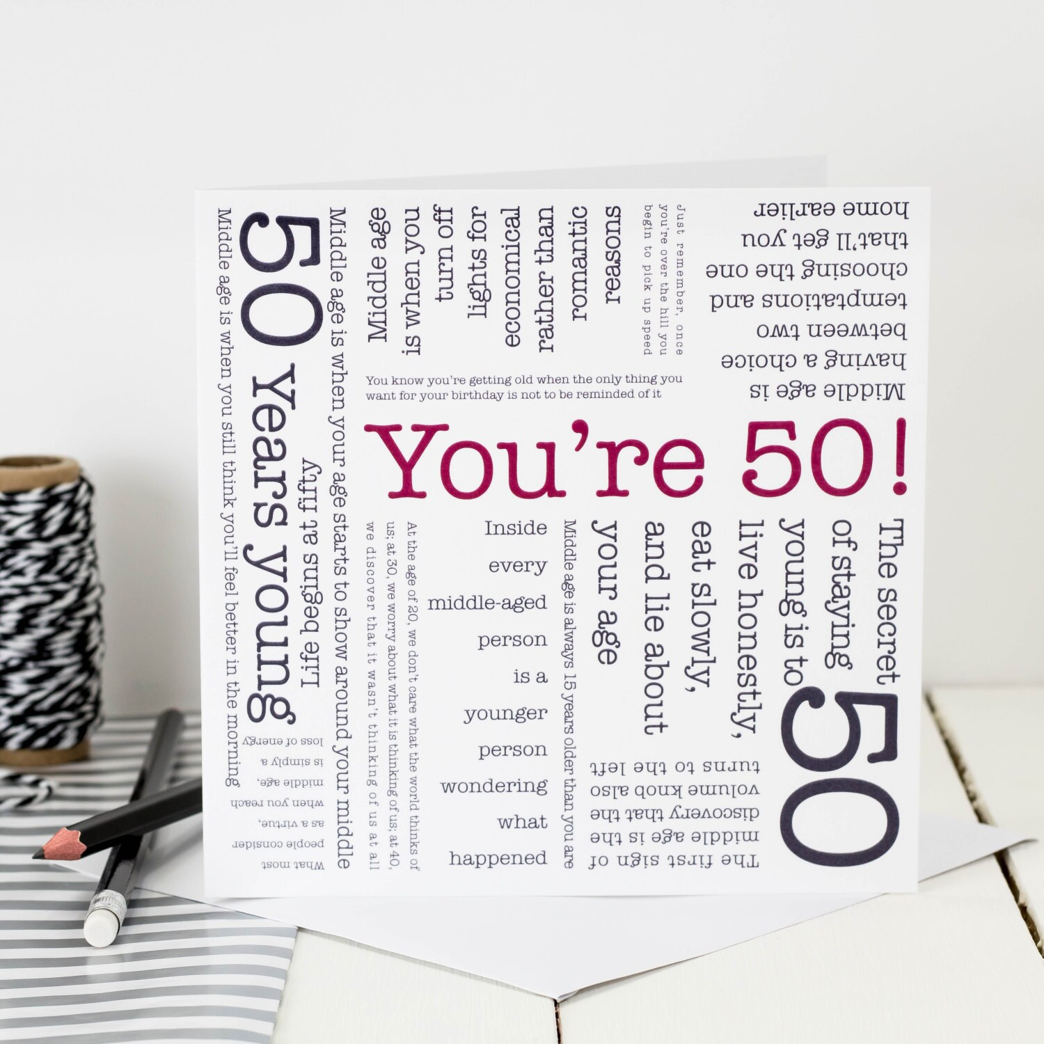 50th Birthday Card You Re 50 Card For 50th