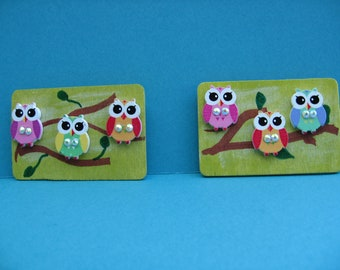 Owl magnets. Set of 2