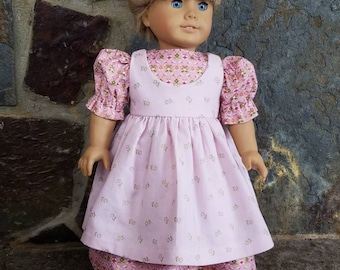 18 inch doll dress and pinafore/ American Girl Doll