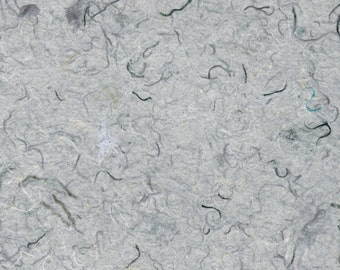 Grey Quilter's Cotton Handmade Paper 11x14 - Unique Deckled Edge Paper