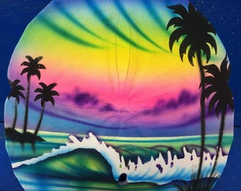 Airbrush Sand Dollar Waves and Beach, Airbrush, Airbrush Sea Shell, Painted Sand Dollar, comes with the names