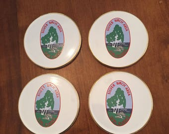 Girl Guides of Canada Silver Birch Area Vintage Ceramic Coasters