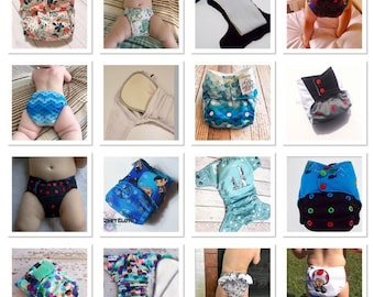 Flawless Fit OS One Size Cloth Diaper PDF Pattern. The Happy Hippos Fits Approximately 7-32lbs. (AI2,AIO,Fitted, Pocket)