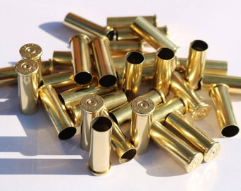 38 Special Once Fired Bullet Brass, Primed, Brass Casing for Jewelry and Reloading - QTY: 10x