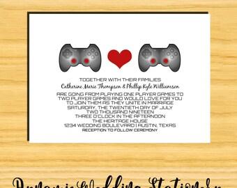 Cute Gamer Wedding Invite DIY Digital Printable