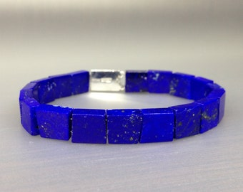 Blue Lapis Lazuli bracelet, highest and best quality of afghan Lapis - gift idea for holiday season
