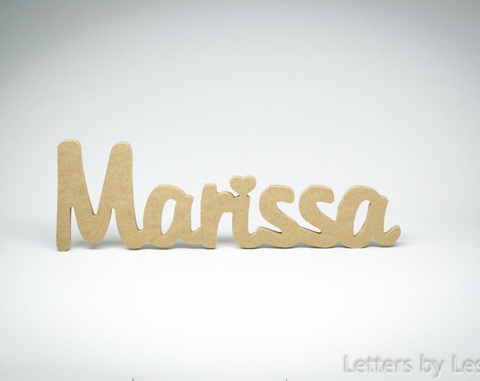 DIY Unpainted Personalized Baby Wall Names. Custom Nursery Wooden Wall Decor. Baby Name Sign