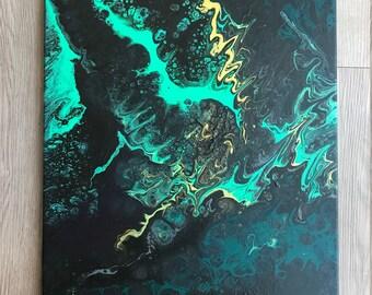 Acrylic Flow Painting 24 X 18