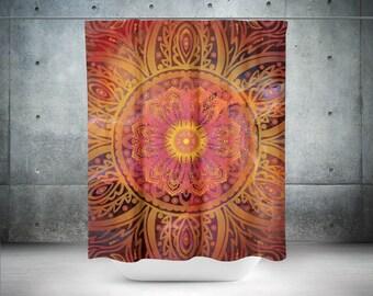 Bohemian Shower Curtain, Boho Shower Curtain, Mandala Shower Curtains, Boho Bathroom Design, Bathroom Shower, Bath Curtain, Custom Shower