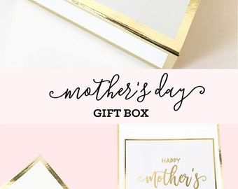 Mothers Day Gift Basket Mom Gift Mothers Day from Daughter Mothers Day from Son Gift for Mothers Day Gift Ideas Box (EB3171MOM) EMPTY BOX