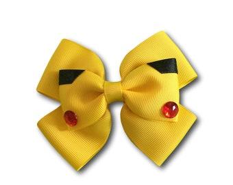 Pokemon Bow, Pikachu Bow, Pokemon Hair Bow, Pokemon Outfit, Pokemon Party