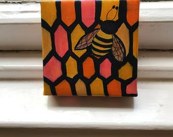 Bee it Ever So Humble Original Wee Painting