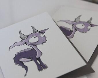 GREETING card - Monster 3
