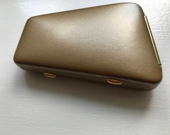 Vintage Cashmere Cowhide Gold Key Guard Box For Keys