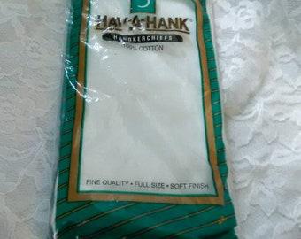 Vintage Deadstock Set of 3 Hankies Hav a Hank Unused