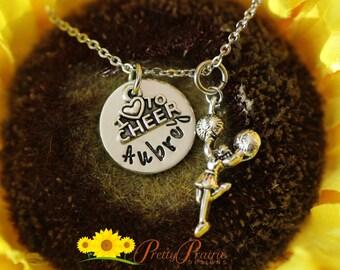 Cheer Squad Gift - Cheerleading Jewelry - Hand Stamped Cheerleading Gift - Cheerleader Necklace - Cheer Mom Necklace - Cheer Squad Gift