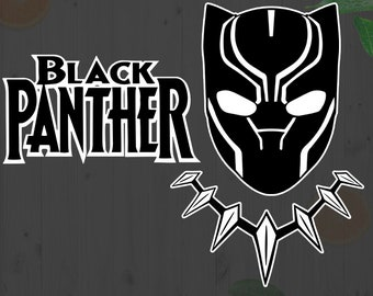 Black Panther Svg, Black panther movie Cutfiles: Svg, Dxf, Eps, Png files, Black panther cuttin files for Cricut, Silhouette, Superhero svg