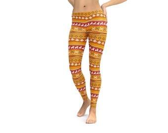 Mexican pattern leggings or Capris Woman's Leggings Printed Leggings Yoga Workout Exercise Mexico Leggings Pants