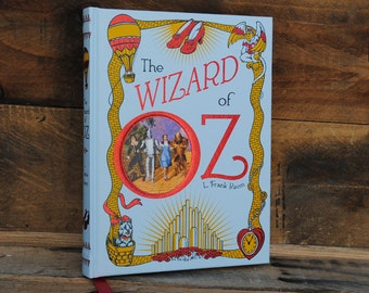 Book Safe - The Wizard of Oz - White - Leather Bound Hollow Book Safe