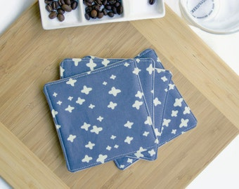Minimal Nordic Print Fabric Coasters Scandinavian Style Home Decor Cloth Coasters Minimal Home Decor