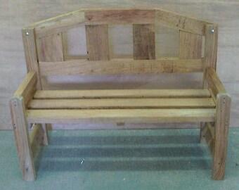 Wooden Garden Oak Park Bench
