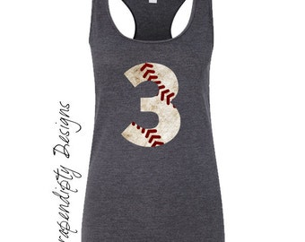 Womens Baseball Tank Top - Baseball Mom Outfit / Custom Baseball Digital File / Baseball Sister Tank / Girls Baseball Iron on Transfer IT421