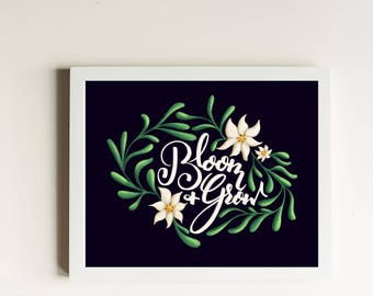 Bloom and Grow Art Print // The Sound of Music // Julie Andrews // Edelweiss