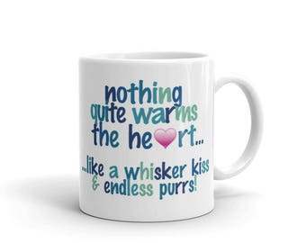 nothing warms the heart - Cat - Mug