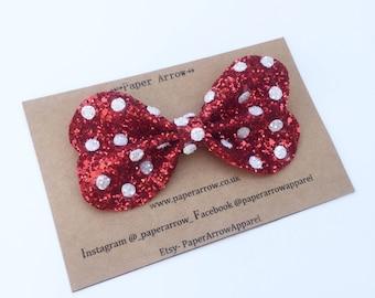 Minnie Mouse Hair Bow | Mickey Mouse bow | disney hair bow | girls hair clip | Disney bows | disney ears | magic kingdom | big bows |