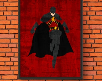 Minimalism Art - Red Robin Print