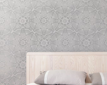 VINTAGE LACE All over Wallpaper Stencil / Reusable Stencil / DIY / Home Decor / Interiors / Feature Wall / Wallpaper alternative