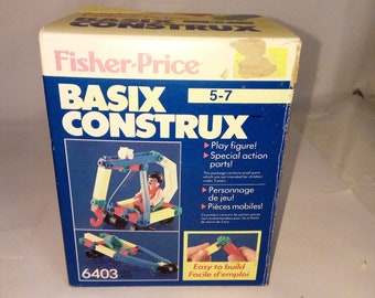 Vintage 1978 Fisher Price Basix Construx
