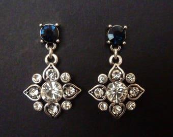 Art Deco Earrings Jewelry Sapphire Earrings Great Gatsby Earrings Wedding Earrings Bridal Earrings Art Nouveau Earrings Downton Downtown