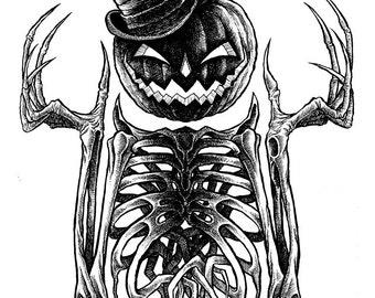Dapper Jack 2 Original Halloween Drawing