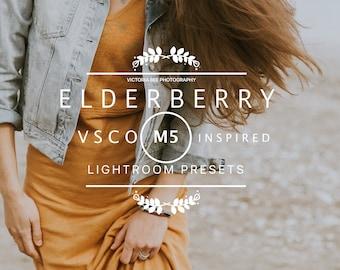 VSCO Cam M5 Inspired Lightroom presets pack //ELDERBERRY// Lifestyle and Fashion Lightroom Presets