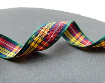 Buchanan Scottish Tartan Ribbon 16mm Wide Berisfords Per Metre