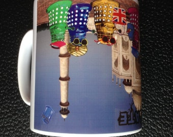 Dr Who Daleks as Tourists in India Mug