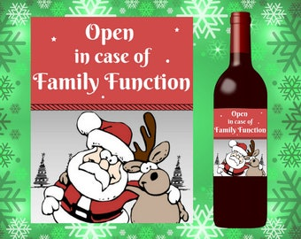 Printable Holiday Wine Label, Christmas gift, host hostess, funny, last minute, easy, DIY, friend, teacher, secret santa, coworker