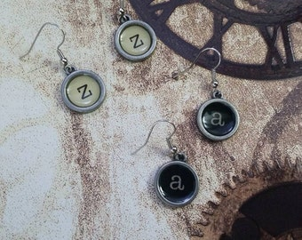 Letter Typewriter Earrings